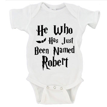 He Who Has Just Been Named CUSTOM NAME OPTION Gerber Onesuit ®