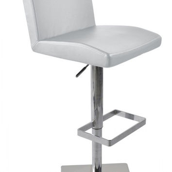 Modrest Modern White Eco-Leather Bar Stool VGCBT1068CN-WHT