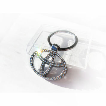 BLING Toyota Keychain with crystals sleutelhanger Toyota emblem Toyota key ring Toyota key chain Toyota key ring Toyota keyring
