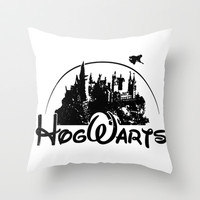 Hogwarts Parody Throw Pillow by LookHUMAN