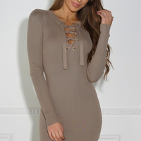 Alexus Dress - Taupe