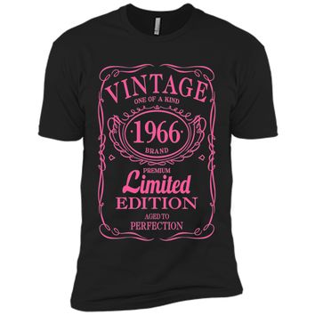 51st Birthday Gift Vintage 1966 Limited Edition T-Shirt Pink