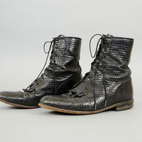 80's Leather JUSTIN Roper Boots