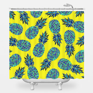 Pineapple Lush Shower Curtain