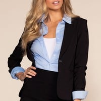 Now Or Never Blazer - Black