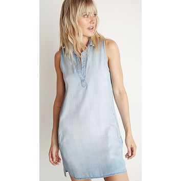 Bella Dahl Sleeveless A-Line Dress Light Mist Wash