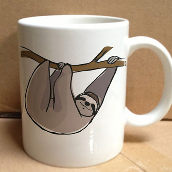 dola dola sloth funny cute animal design for mug, ceramic, awesome, good,amazing
