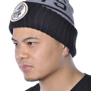 Mitchell & Ness NFL Saints Football Knitted Patch Beanie Hat