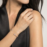Alexi Pinch Bracelet In Pave Diamond And 14k White Gold