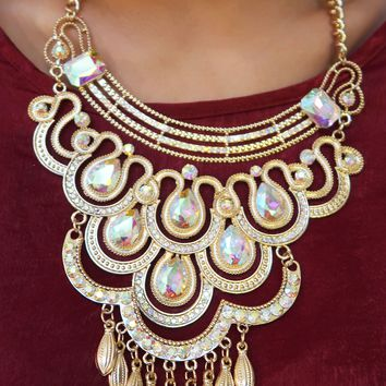 Holiday Magic Necklace: Gold/Iridescent