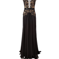 Zuhair Murad - Silk Blend Gown with Beaded Overlay