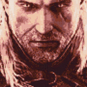 The Witcher Geralt Cross Stitch Pattern