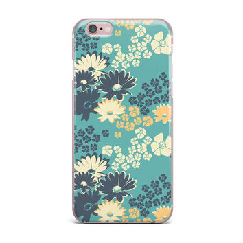 "Zara Martina Mansen ""Teal Color Bouquet"" Green Blue iPhone Case"