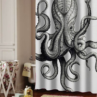 octopus shower curtain adorabel batheroom and heppy showers.