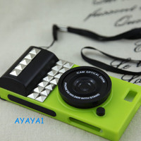 Personalized Iphone 5 Case Antique silver  studs camera  IPHONE 5 Case----green iPhone 5 Case, iPhone 5 hard Case, studded case
