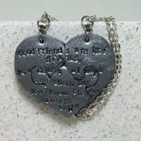 Best Friend Necklaces Good Friends are like Stars Set of 3 Necklaces Silver Polymer Clay Jewelry