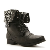 Promo-aztec Lined Combat Boots
