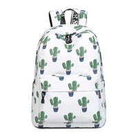 Canvas Lightweight Sturdy Roomy Fruits Pattern Backpack School Bag Travel Daypack