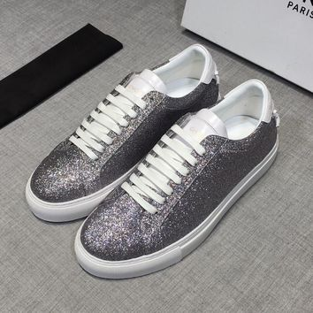 GIVENCHY White Shiny Low Sneakers - Best Deal Online
