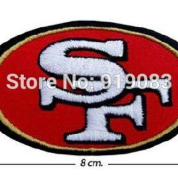 NFL San Francisco 49ers logo patch Comics tv movie Embroidered Emblem applique iron on patch halloween cosplay costume