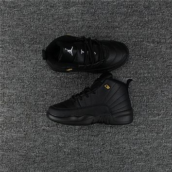 Kids Air Jordan 12 Black Sneaker Shoe Size Us 11c 3y | Best Deal Online
