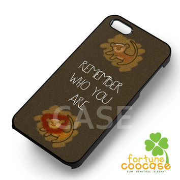 Disney Lion King Movie Simba Remember Who You Are -EDH for iPhone 6S case, iPhone 5s case, iPhone 6 case, iPhone 4S, Samsung S6 Edge