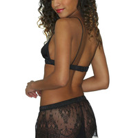 Simone shorts: silk and lace tap pants, ivory or black.  Sheer see-through knickers knicker panty luxury lingerie undies short tappant