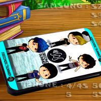 5 Seconds of Summer Cartoon - For iphone 4 iphone 5 samsung galaxy s4 / s3 / s2 Case Or Cover Phone.