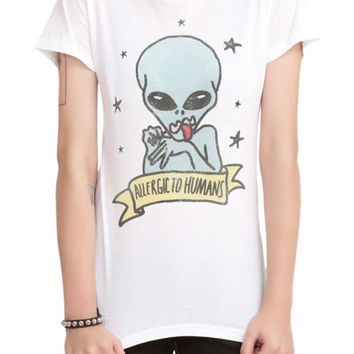Allergic To Humans Girls T-Shirt