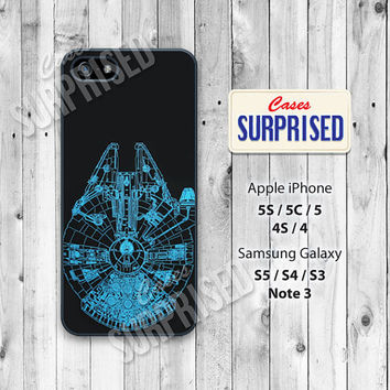 Star wars, Han Solo, Spaceship, iPhone 5 case, iPhone 5C Case, iPhone 5S case, Phone case, iPhone 4 Case, iPhone 4S Case, Phone Skin, 0371