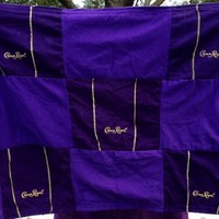 Crown Royal Flag Handmade with recycled bags