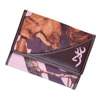 Browning Women's Pink Camo French Wallet