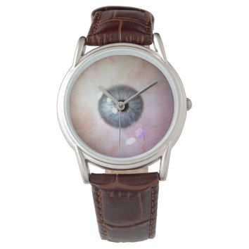 My Eye On Time: Men's Brown Leather Strap Watch