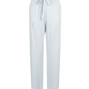 Blue Tie Waist Pyjama Bottoms