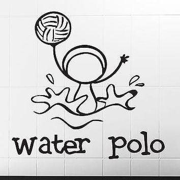 Wall Stickers Vinyl Decal One of the Sports Water Polo Funny Image Unique Gift (n307)
