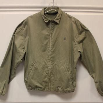 Vintage // Polo by Ralph Lauren // Full Zip Jacket // Harrington // Medium