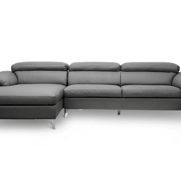 Baxton Studio Voight Gray Modern Sectional Sofa Set of 1