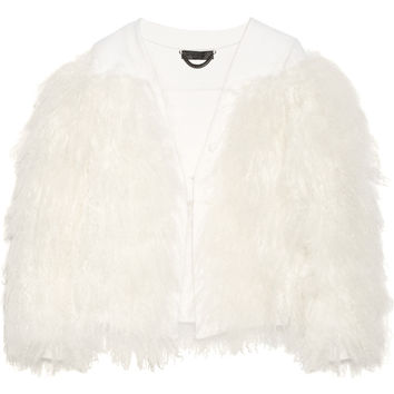 Burberry Prorsum - Shearling-trimmed wool and cashmere-blend jacket