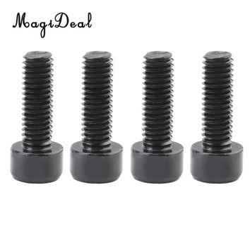 MagiDeal 4Pcs Aluminum Alloy Bike Cycling Riding Water Bottle Cage Bolts Holder Socket Screws Black for Outdoor Tools Accesso