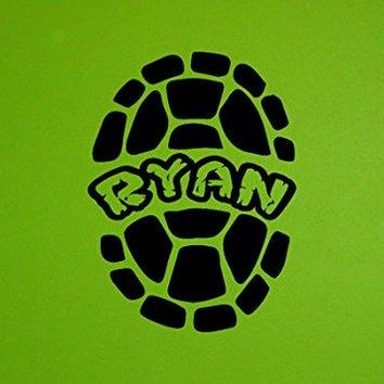 XL Inspired by Mutant Turtles Shell Vinyl Wall Decal Sticker Personalized Custom Name