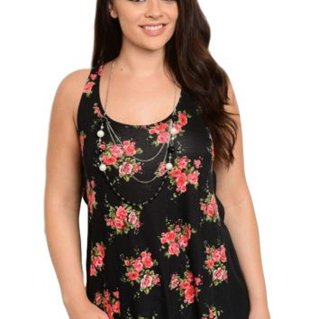 Willow Top - Black/Floral