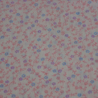Vintage Calico Fabric Pink, Purple, & Blue Petite Flowers - 3 YARDS