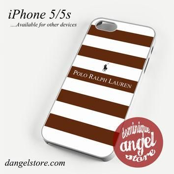 Ralph Lauren brown white strips Phone case for iPhone 4/4s/5/5c/5s/6/6 plus