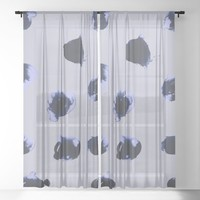 Cold Spots Sheer Curtain by duckyb