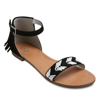 Women's Festival Beaded Ankle Strap Sandal