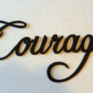 Courage Word Metal Wall Art Home Decor
