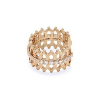 Double Lace Some Diamond Ear Cuff Earring - Rose Gold