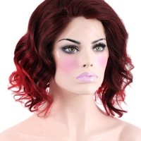 Chocolate Cherry Lace Front Wig