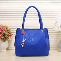 YSL Fashion Women Leather Satchel Tote Handbag Shoulder Bag Blue I-MYJSY-BB