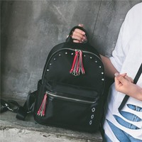 Lydian2017 New The Women New Fashion Leisure Backpack Oxford Cloth Bags All-Match Rivet Simple Waterproof Backpack FREE SHIPPING